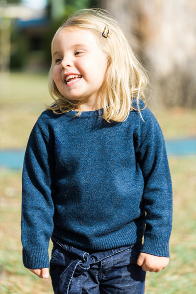 Bow & Arrow - Navy Florence Jumper with Liberty Patches