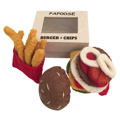 Felt Burger and Chips