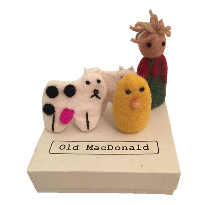 "Felt Finger Puppets ""Old Macdonald"""