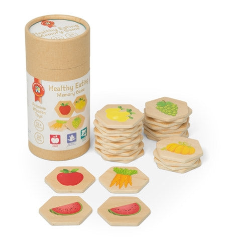 Premium Wooden Toys - Healthy Eating Memory Game