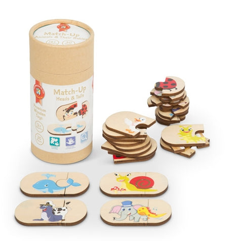 Premium Wooden Toys - Match-Up Heads and Tails