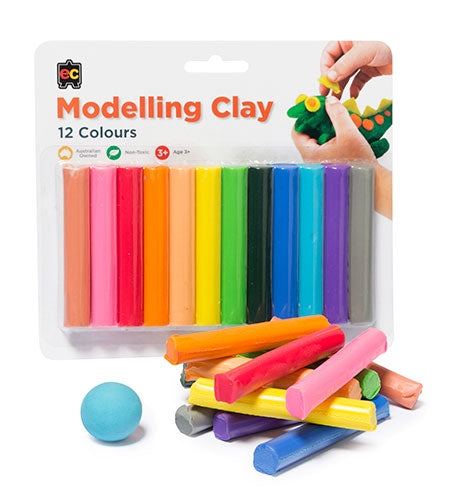 Educational Colours - Fun Clay 12s Assorted Colours (Blister Pack)