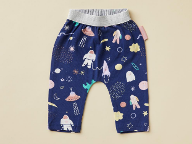 Space Out Print Baby Pants