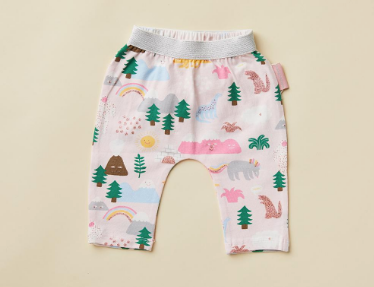 Rainbow Friends Print Baby Pants