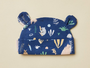 Midnight Outback Dreamers Print Baby Hat