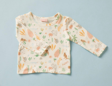 Outback Dreamers Print Baby Top