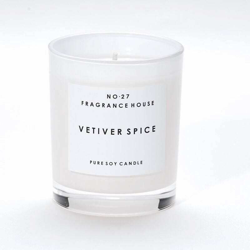 No 27 Fragrance House Vetiver Spice Candle