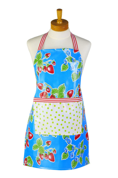 Little Kids Apron - Blue Strawberry