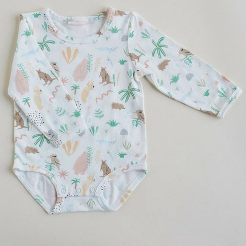 Outback Dreamers Print Baby Romper