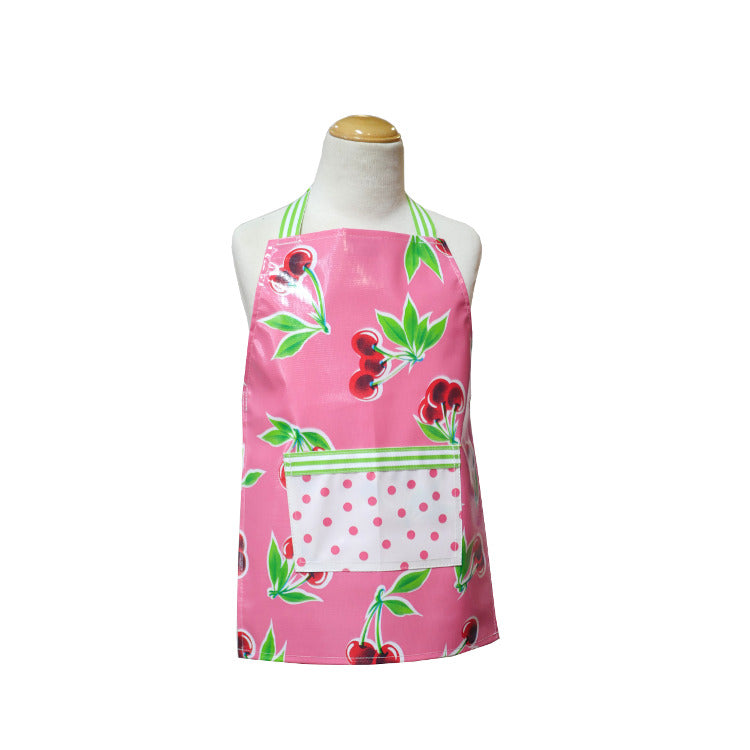 Little Kids Apron - Pink Cherry