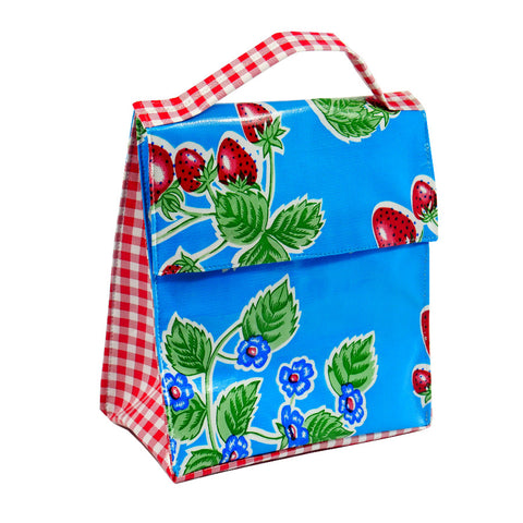 Insulated Lunchbag- Blue Strawberry