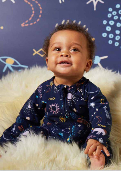 Milky Way - Long Sleeve Zip Sleep Suit