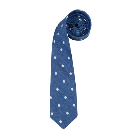 The Chambray Polka Tie