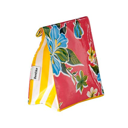 Insulated Lunch Bag - Pink Hibiscus