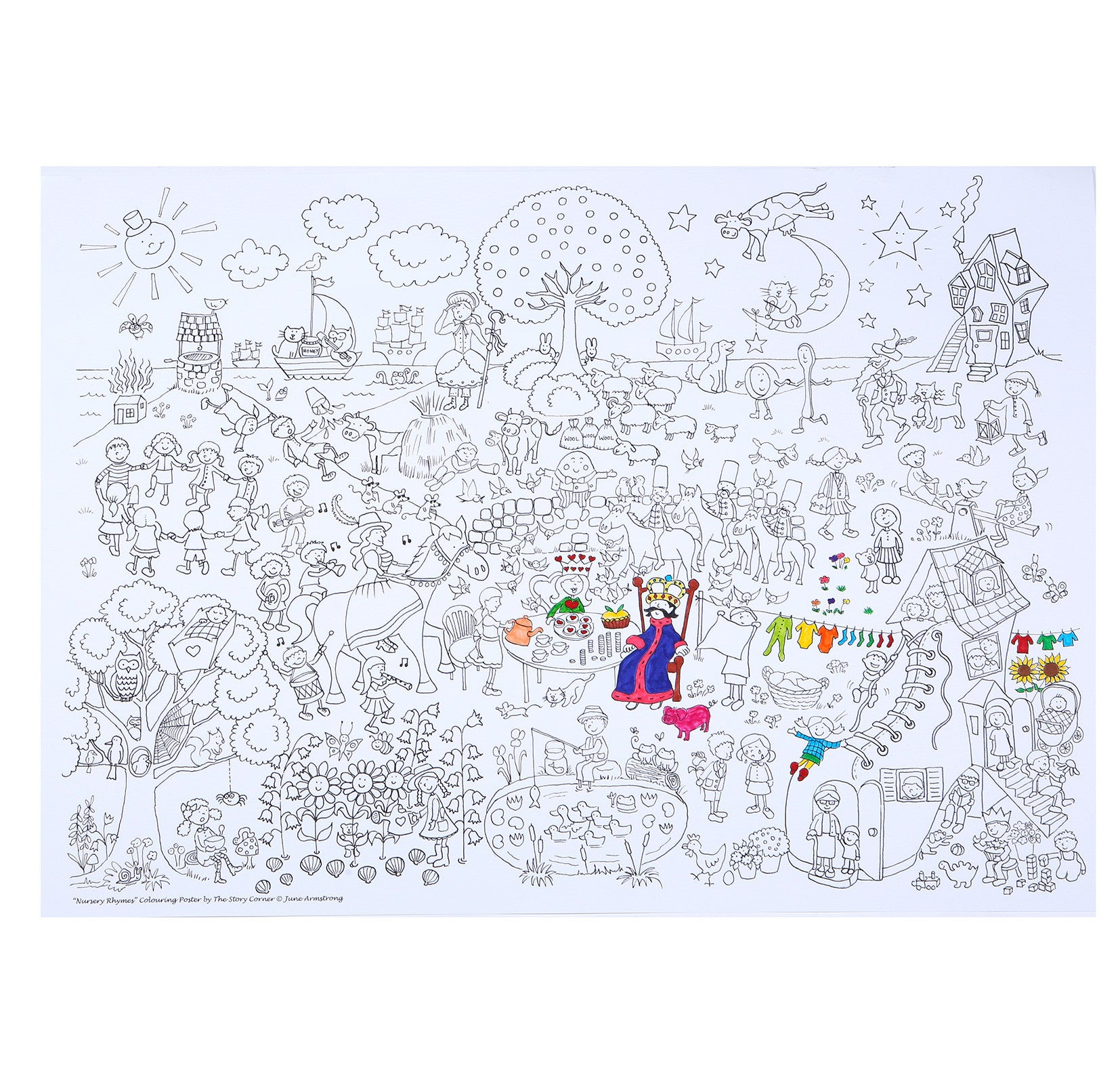 NURSERY RHYMES COLOURING POSTER