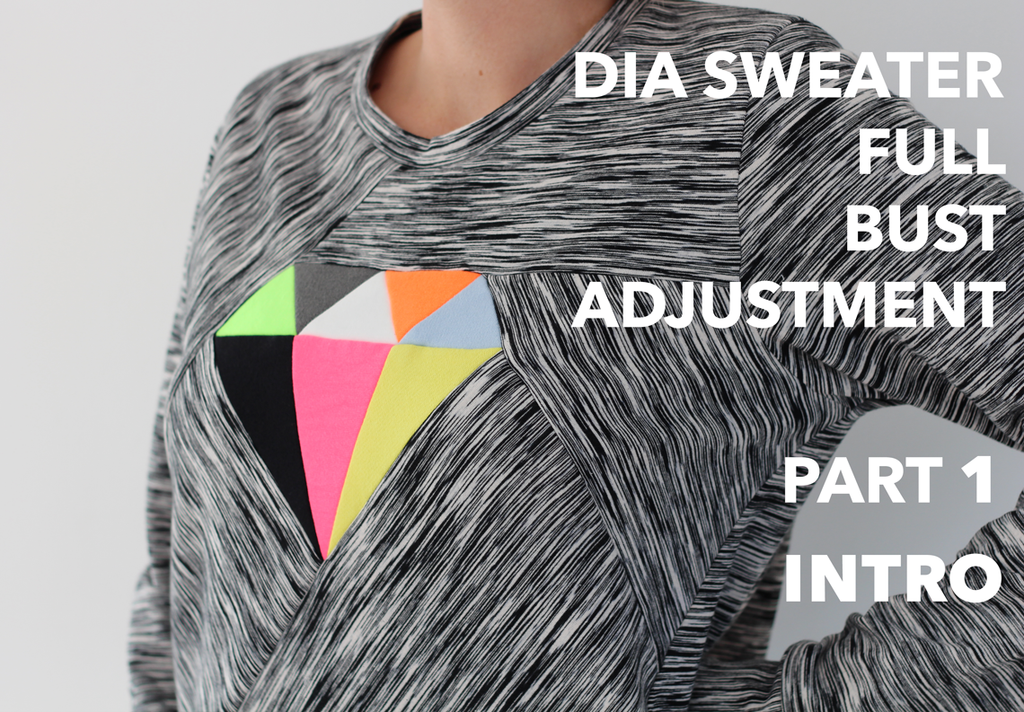 Dia Sweater Full Bust Adjustment - Part 1