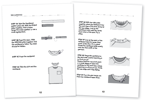 Tutorial pages of Rowan Tee