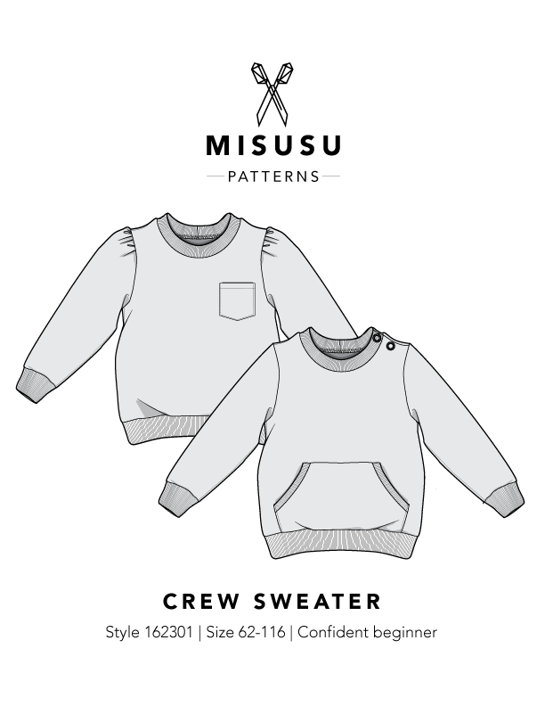 Crew Sweater PDF Sewing Pattern