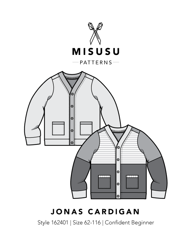 Jonas Cardigan PDF Sewing Pattern