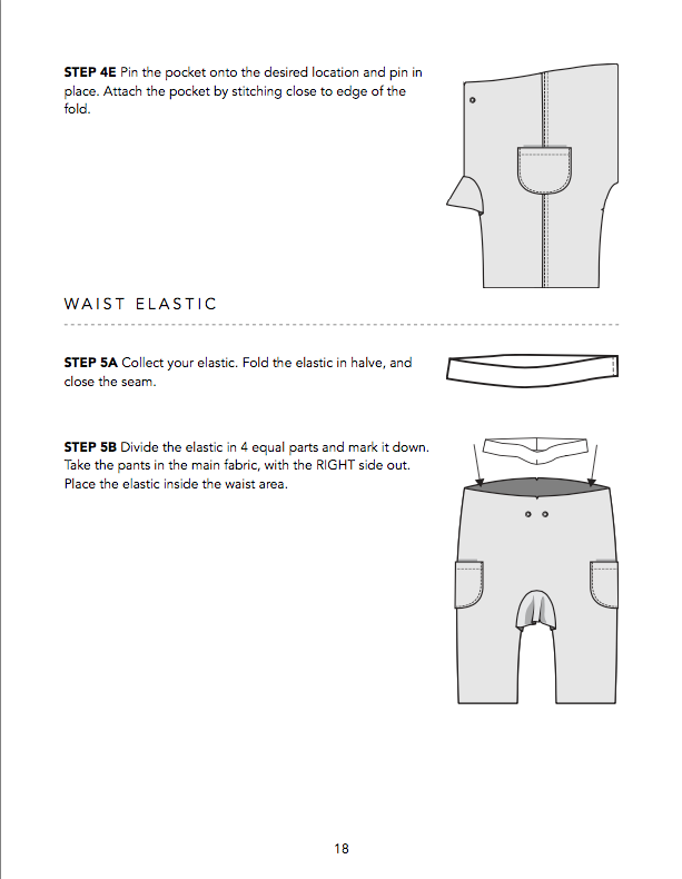 Olli Lined Pants PDF Sewing Pattern