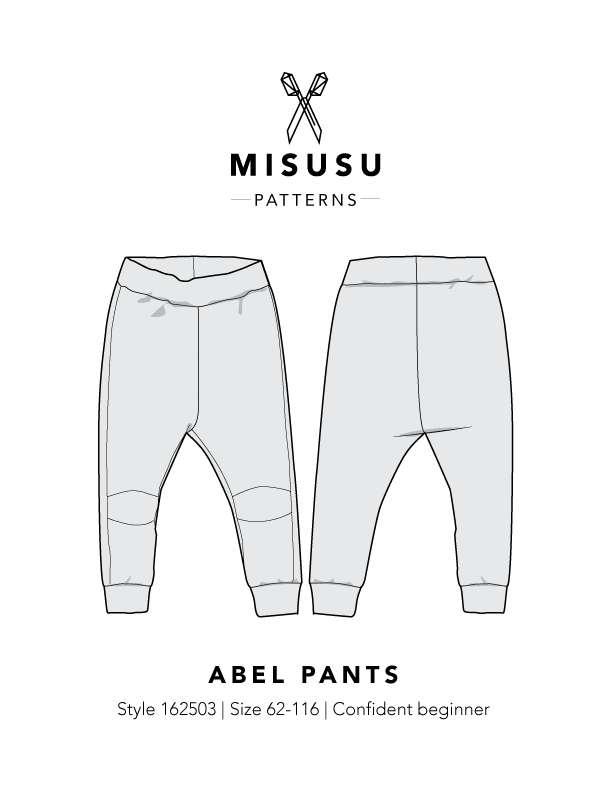 Abel Pants PDF Sewing Pattern Misusu Patterns Impressive Pants Sewing Pattern