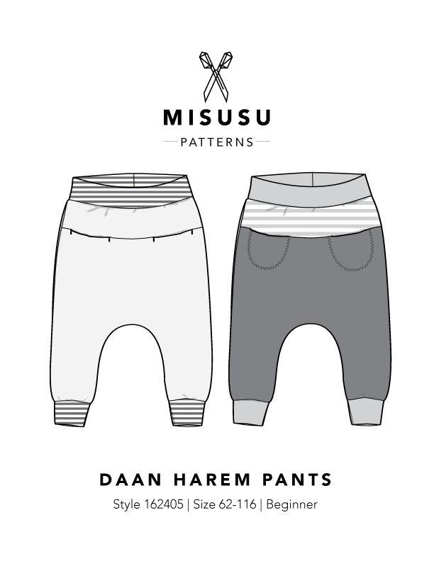 Daan Harem Pants PDF Sewing Pattern