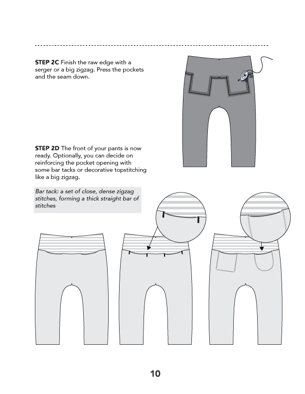 Daan Harem Pants PDF Sewing Pattern - Misusu Patterns