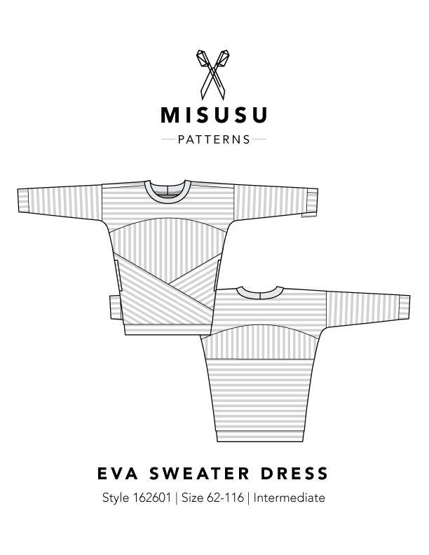 Eva Sweater Dress Pdf Sewing Pattern Misusu Patterns