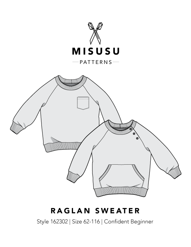 Raglan Sweater Pdf Sewing Pattern Misusu Patterns
