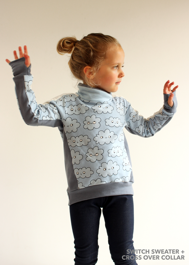 BUNDLE - Switch Crew Sweater & Shuffle Add On PDF Sewing Pattern Bundle