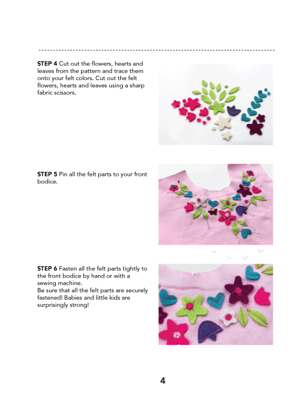 Felt Flower Artwork PDF Sewing Pattern