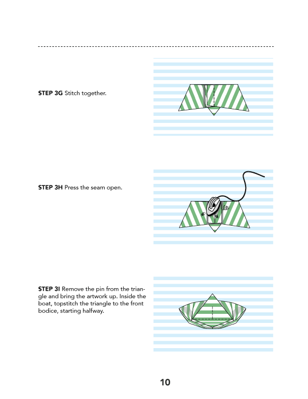 Origami Boat Artwork PDF Sewing Pattern