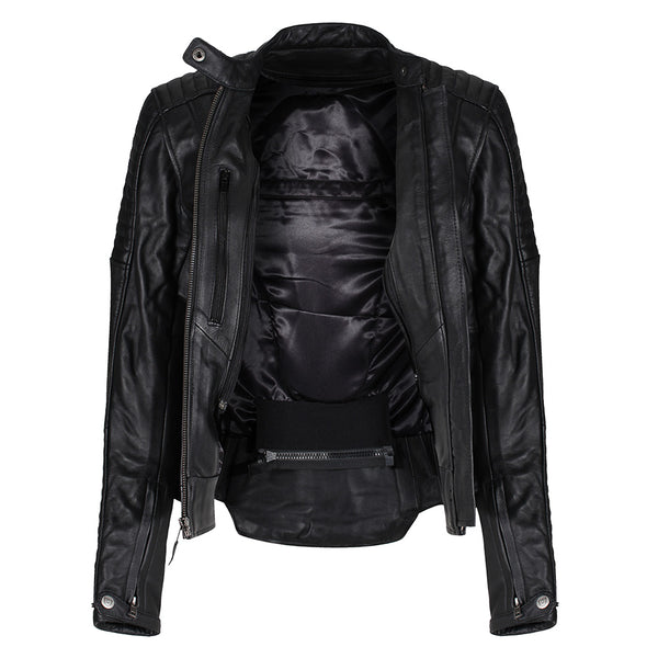 MotoGirl Valerie Black Leather Jacket