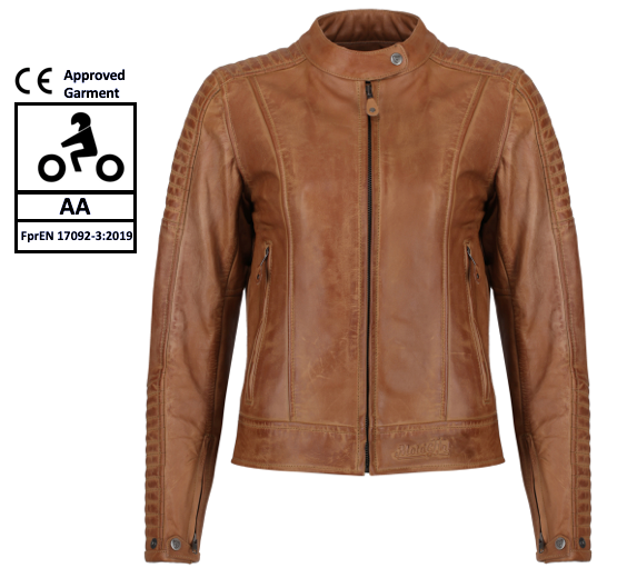 MotoGirl Valerie Camel Leather Jacket