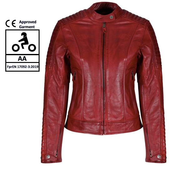 MotoGirl Valerie Red Leather Jacket