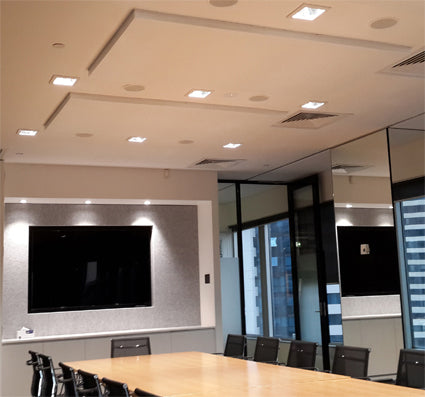 Bach Commercial Acoustic Ceiling Panel - Nude White - Direct Stick Ceiling Acoustic Panels