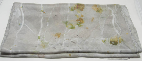 Silk Scarf - Eucalypt (mixed leaf)