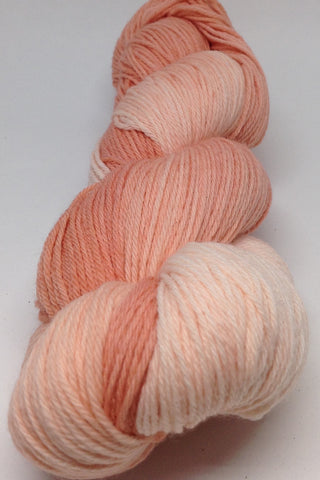 Variegated peach yarn