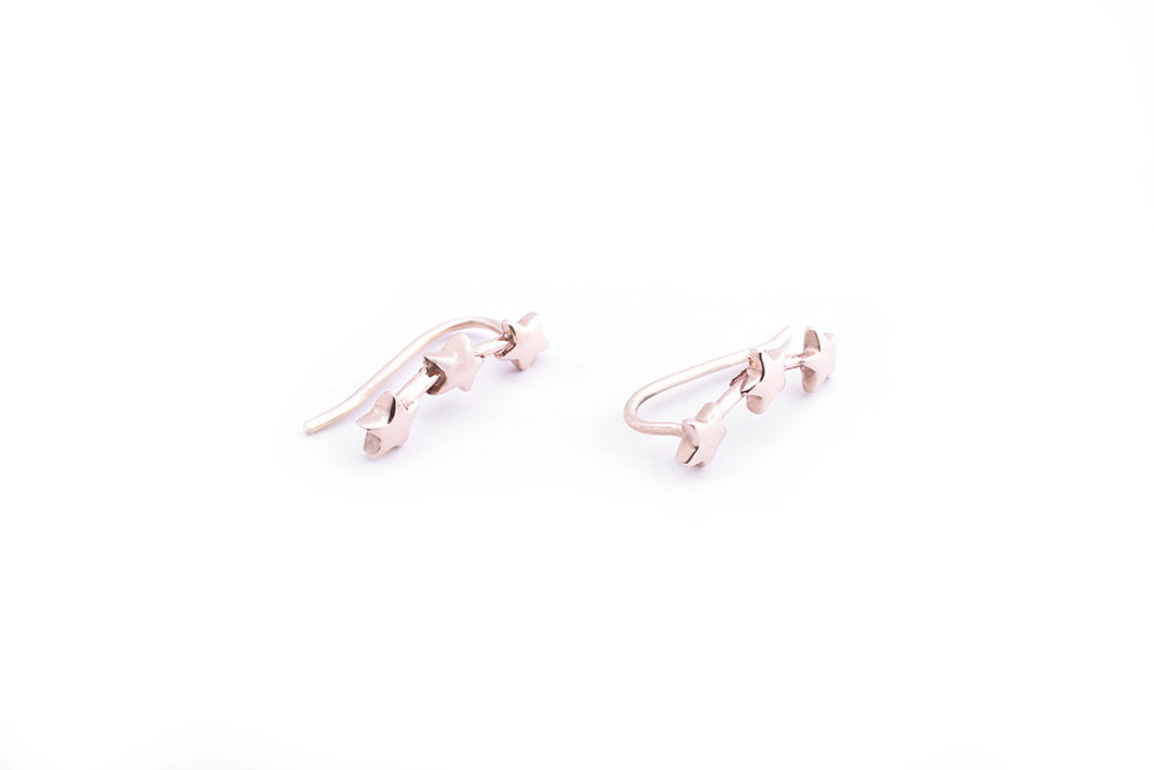 Star Climber Earring Rose Gold