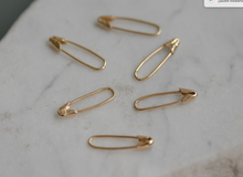 Safety Pin 14 k Gold