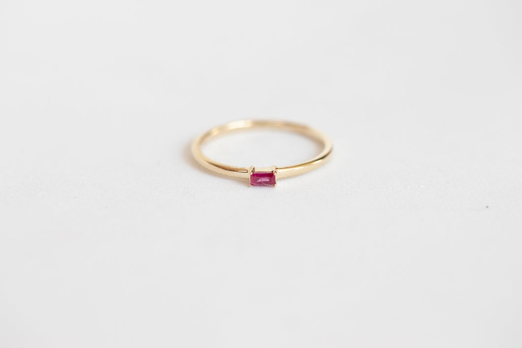 Andromeda Ruby Ring 14k