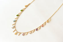 Rainbow Necklace 14k