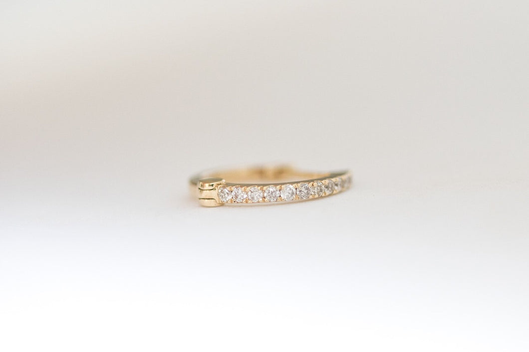 Diamond Hoop Yellow Gold