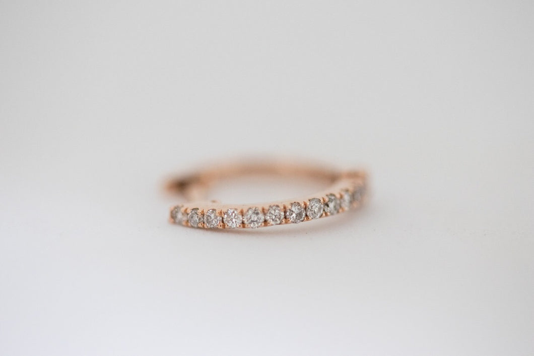 Diamond Hoop Rose Gold