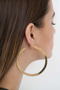 Melissa Hoops Gold Plated Brass