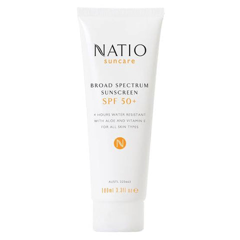 natio spf50+ sunscreen natural