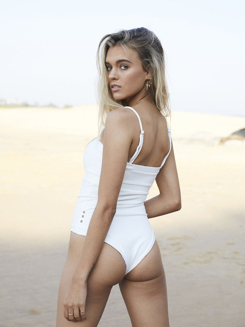 Charlie Mae Swimwear, recycled swimwear australia, swimwear boutique online, australian swimwear brands,  australian swimwear boutique, sustainable australian swimwear, ethical swimwear australia, australian swimwear online, australian swimwear brands list, white bikinis bottoms high waisted,
