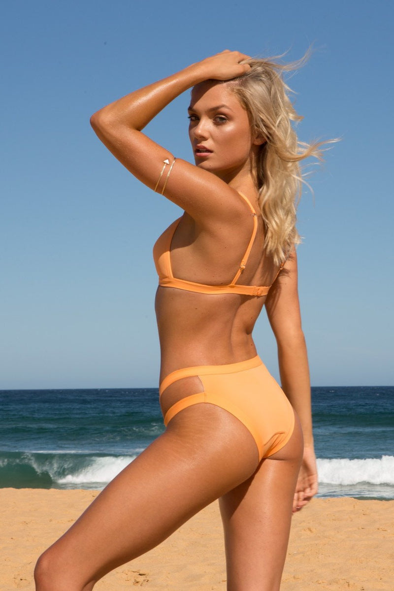 Charlie Mae Swimwear, recycled swimwear australia, swimwear boutique online, australian swimwear brands,  australian swimwear boutique, sustainable australian swimwear, ethical swimwear australia, australian swimwear online, australian swimwear brands list, orange bikini,