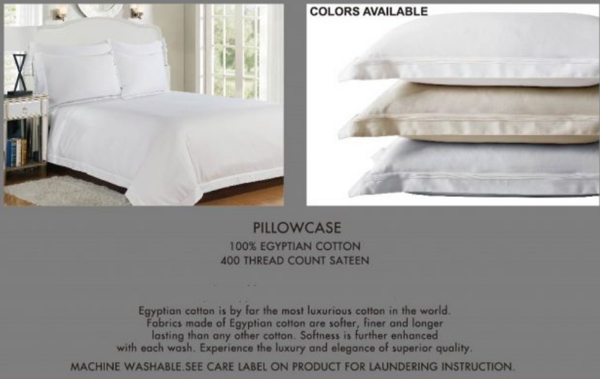 400 Thread Egyptian Cotton Pillow Cases