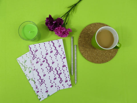 Emerald and Lime | Eco-friendly notebooks